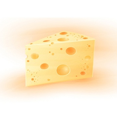 icon piece of cheese vector