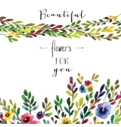 Floral card colorful floral banner with vector