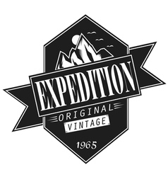 Vintage expedition vector