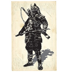 An hand drawn from japan culture - samurai shogun vector