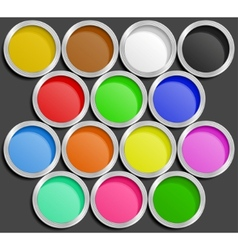 Of paint cans vector