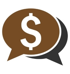 Financial Chat Flat Icon vector image