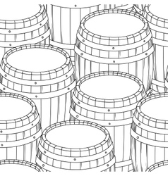 Barrel and cup seamless background vector image