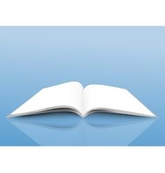 Opened magazine vector image