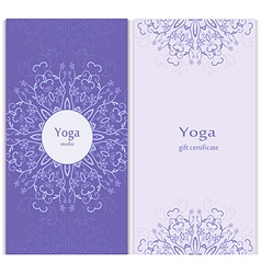Yoga gift certificate template vector