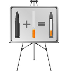 easel and sigaret cartridge vector image