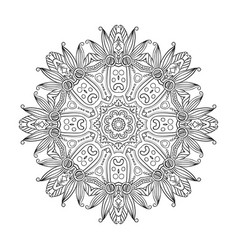 abstract hand-drawn mandala-04 vector image