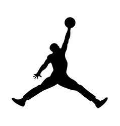Basketball player the black color icon vector