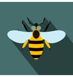 Bee flat icon vector