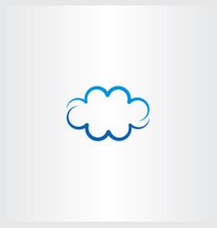 Blue cloud icon symbol design element sign vector