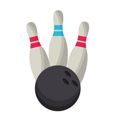 bowling ball pin game vector image