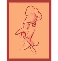 Chef cook in frame vector image vector image