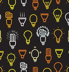 Color light lamps seamless background vector image vector image