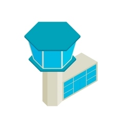 Control tower airport isometric 3d icon vector