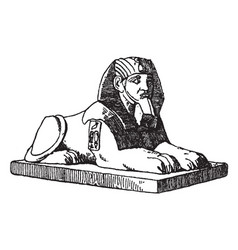 Crouching sphinx is a combination of the human vector