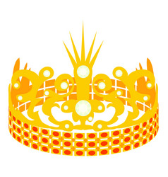 crown of the princess icon cartoon style vector image