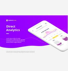 digital web banner for mobile app vector image vector image