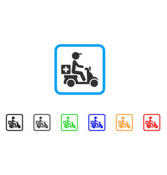 drugs motorbike delivery framed icon vector image