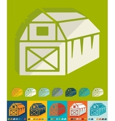 Flat design barn vector