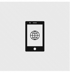globe icon simple vector image