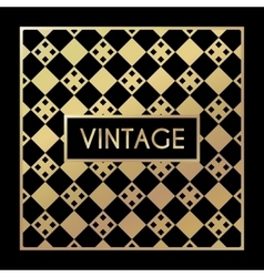 Golden vintage pattern on black background vector