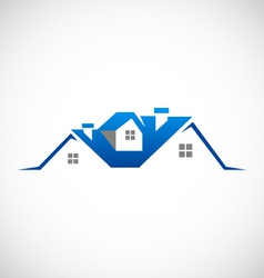house realty property logo vector image