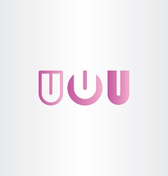 letter u purple logo icon set vector image