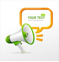 megaphone speech templates for text vector image vector image