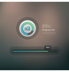 Progress bar vector image vector image