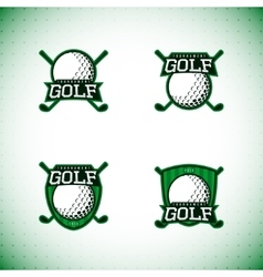 Set of labels of golf tournament vector image