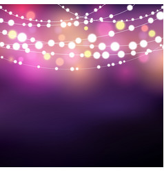 string lights background vector image