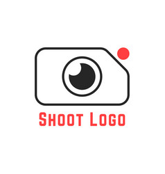 Thin line simple shoot logo vector