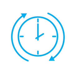 time arrow icon on white background time arrow vector image vector image