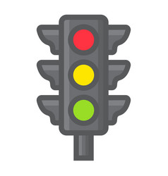traffic light filled outline icon stoplight vector image