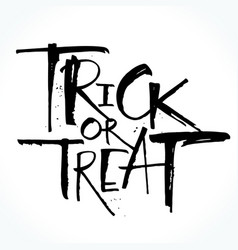 trick or treat lettering for halloween vector image