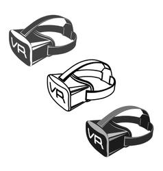 Virtual 3d reality goggles vector