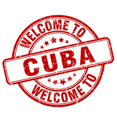 welcome to cuba vector image