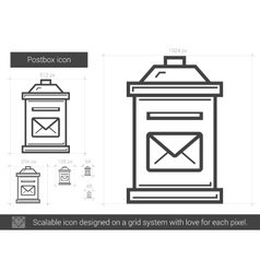 Postbox line icon vector