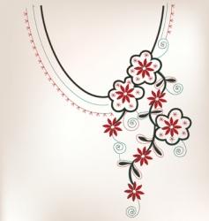 Vintage collar design vector