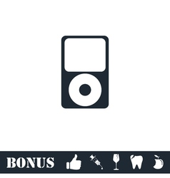 MP3 Player icon flat vector image