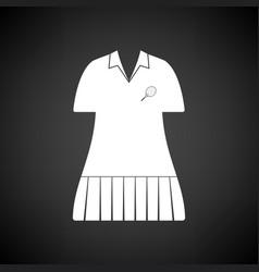 tennis woman uniform icon vector image