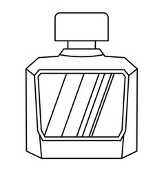 Jar of perfume icon outline style vector