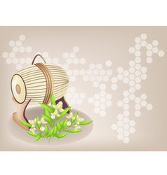 Sampho drum ylang background vector