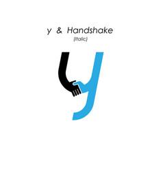 Creative y- letter icon abstract logo design vector