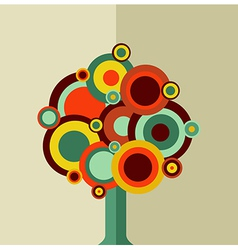 Colorful vintage tree vector