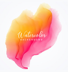 Abstract watercolor bright stain texture vector
