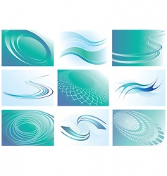 backgrounds set vector image