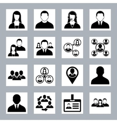 Human resource office people and management icons vector
