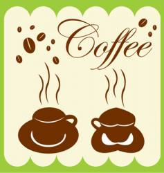 Coffee cup and coffee bean vector