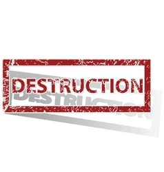 Destruction outlined stamp vector